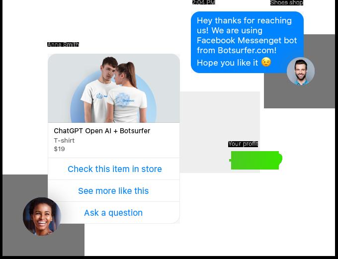 Botsurfer Facebook chatbot builder features
